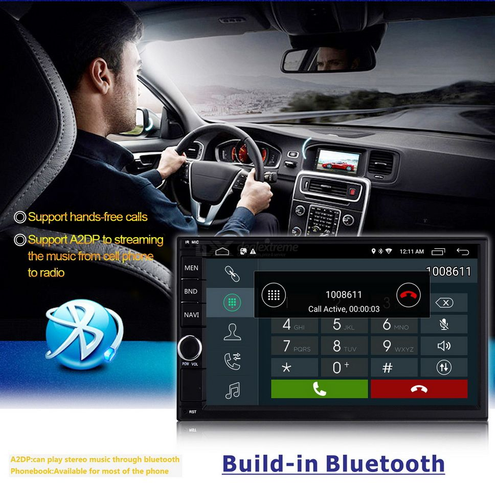 Multi Function Android 8 1 7 Inch Car GPS with Radio Stereo High Definition  Touch Screen BT Player