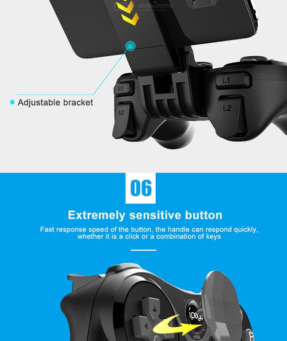 IPEGA PG-9128 Wireless Game Controller Bluetooth 4 2 Game Joystick For  Smartphones Tablets Smart TV Set-up Box And PCs
