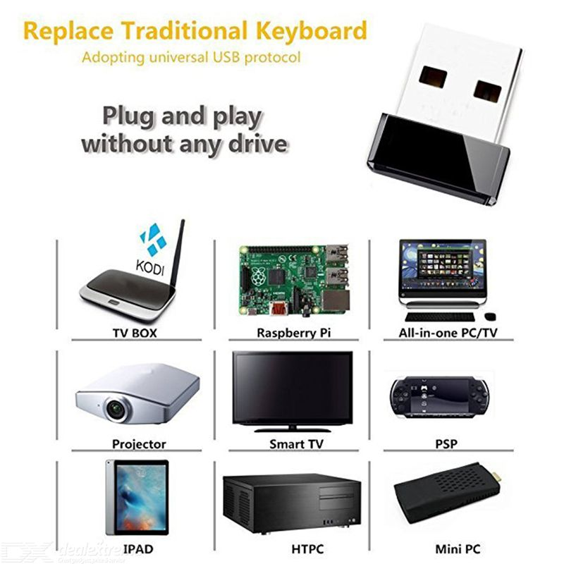 Mini Wireless Keyboard Air Mouse Remote Control 7-Color Backlit Keyboard  for Android Smart TV Box IPTV Networked Set-Top Box