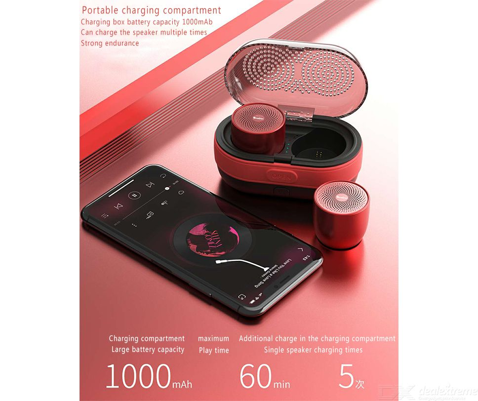 OneDer V17 TWS Mini Bluetooth Speaker Portable Pocket Wireless Speaker  Magnetic Feature With Charging Case