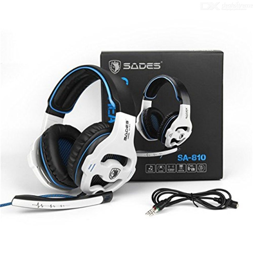 Sades SA 810 Over Ear Gaming Headsets Stereo Bass 3 5mm Gaming Headphone  With Noise Isolation Mic For PS4 Xbox One PC Mac