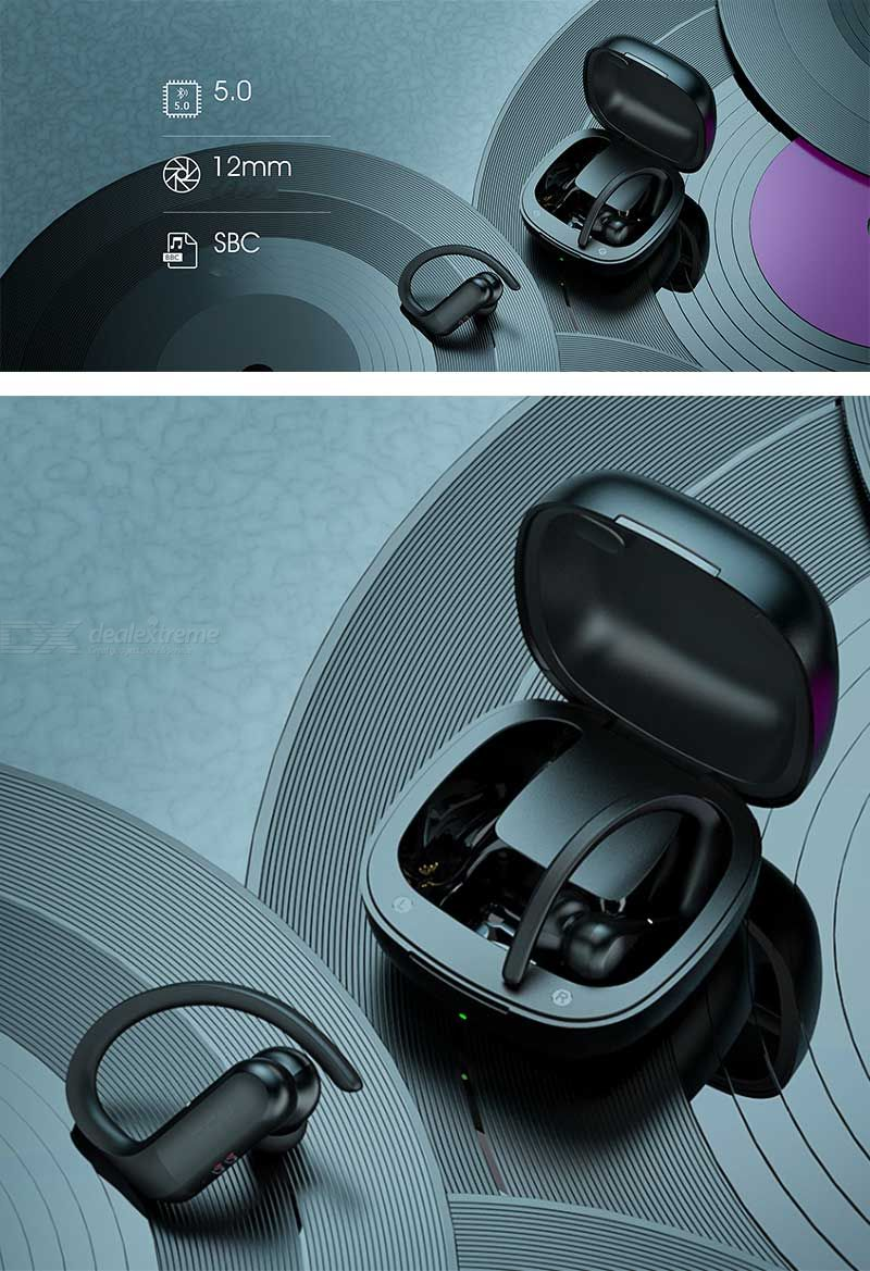 Wireless Invisible Earbuds with light weight of 3G for Each Piece Advanced Noise Cancellation /& Wireless 2200mAh Charging Case Bluetooth 5.0 Headphones UP to 50 Hrs Playtime Deep Bass Stereo Sound