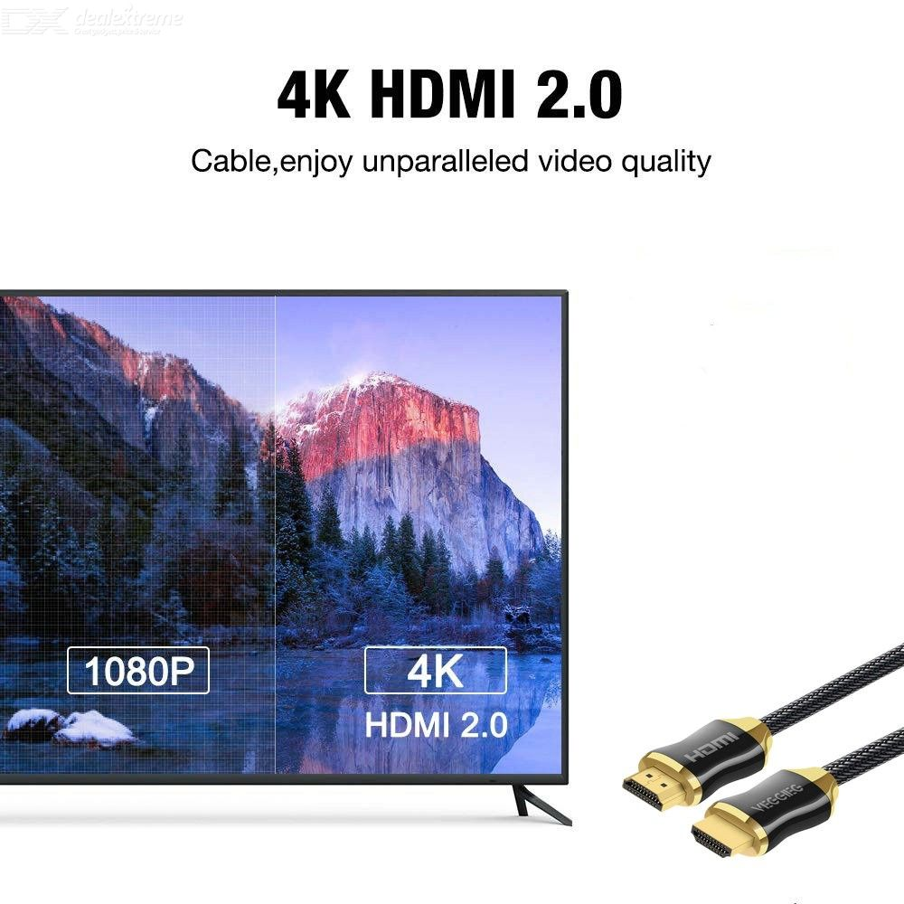RASH Accessories High-Speed HDMI Cable 1m 2m 3m 4m 5m 10m 20m 2 Meters HDMI Cable High Speed Gold Premium Quality supports all HD ready devices and gadgets Supports Ethernet Black 3D
