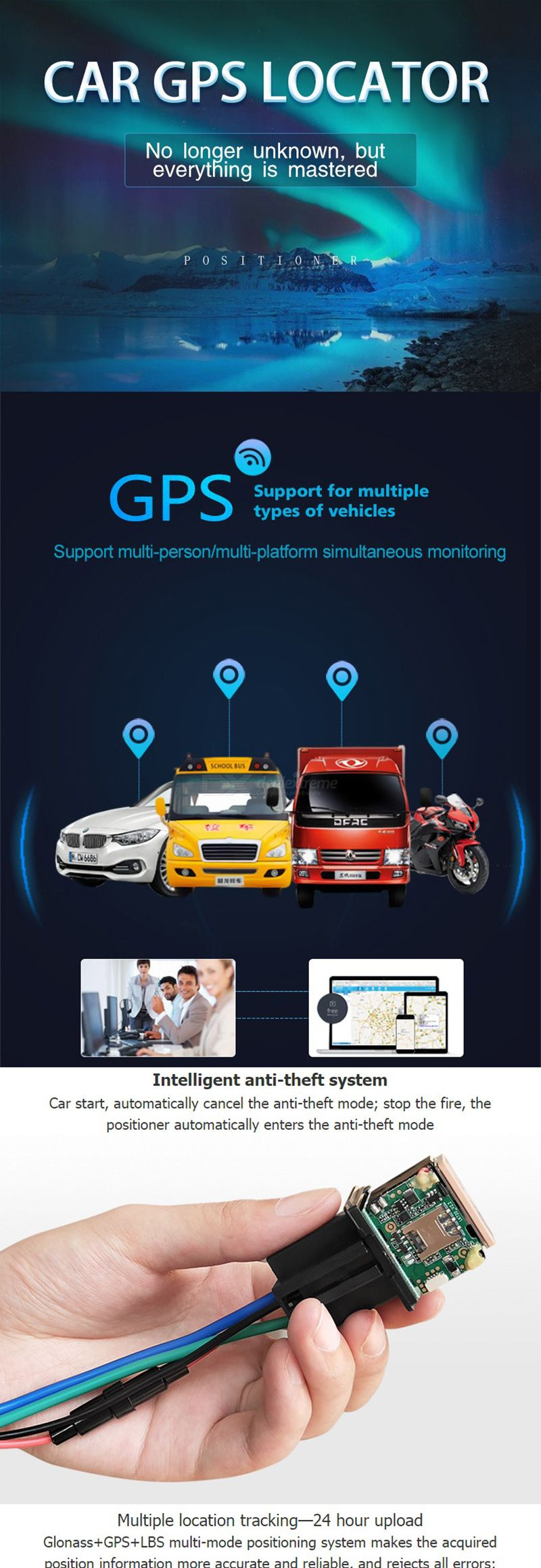 CUHAWUDBA CJ740 NO Cut Off Oil Car Hide Relay GPS Tracker Device GSM SMS APP Locator Anti-Theft Monitoring System GPS Locator Tracking
