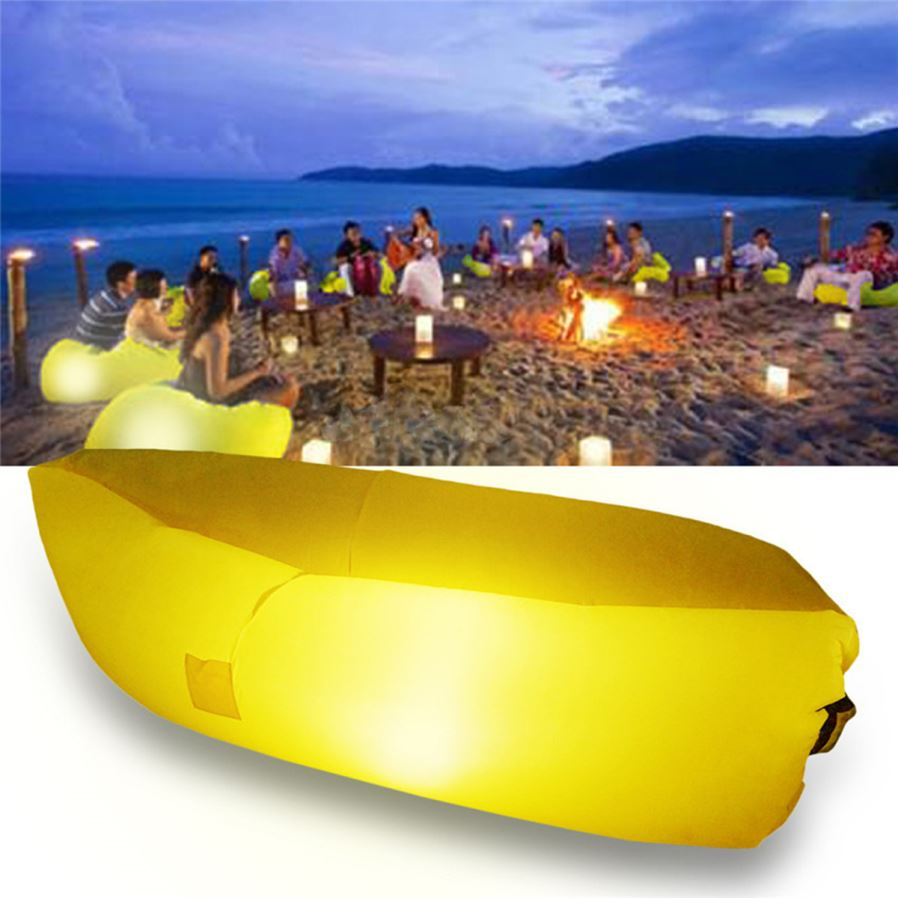 Fatboy Air Sofa: Stylish Outdoor Camping Sleeping Bed W / LED Lighting