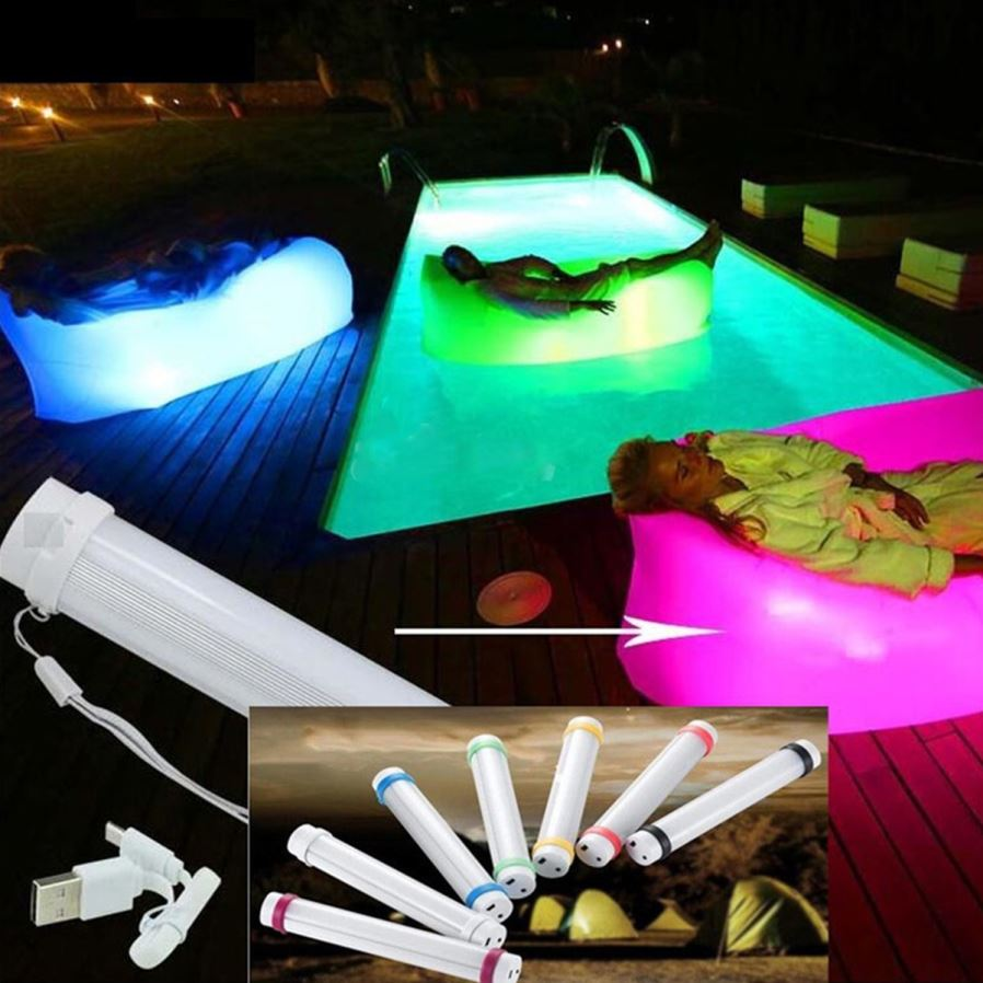 LED Light Camping Lamp Portable Inflatable Sofa Bed ...