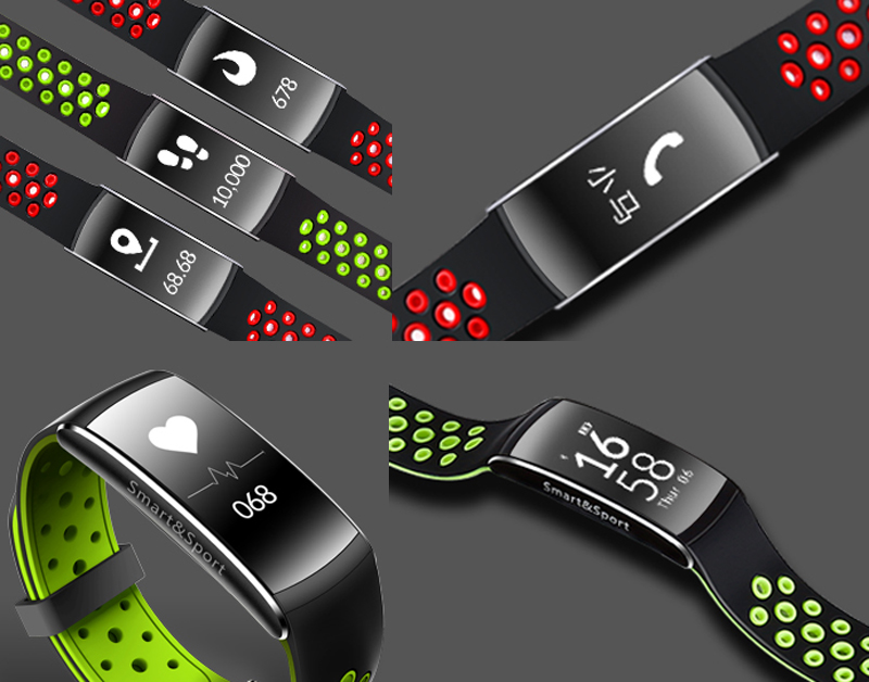 Q8 Bluetooth Smart Bracelet with Pedometer, Heart Rate ...