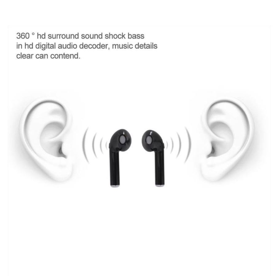 I7s Tws Mini Twins Ture Bluetooth Wireless Earbuds Earphone Headset Sports Hbq I7 V42 Iphone 7 Plus Oem Connect State Press The Switch 2 Times Hear Tone Successfully Charging Time About 12 Hour Power Indicator Red Light