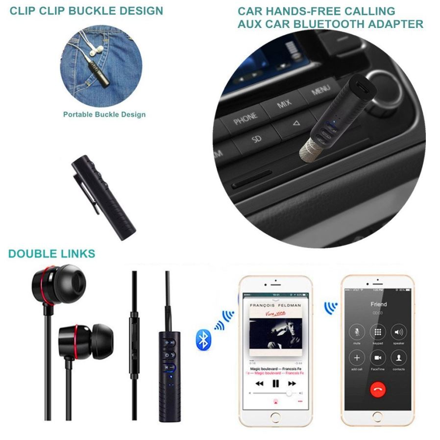 Mini Bluetooth V42 Receiver Wireless Hands Free Car Aux Audio Jack Dc Female 55mm Standar Untuk Cctv Atau Pompa Charger Pc Usb Port Charging 15 Hours Or So Full Provides Up To 45 Play And Talk Time Included Micro Cablebut Not