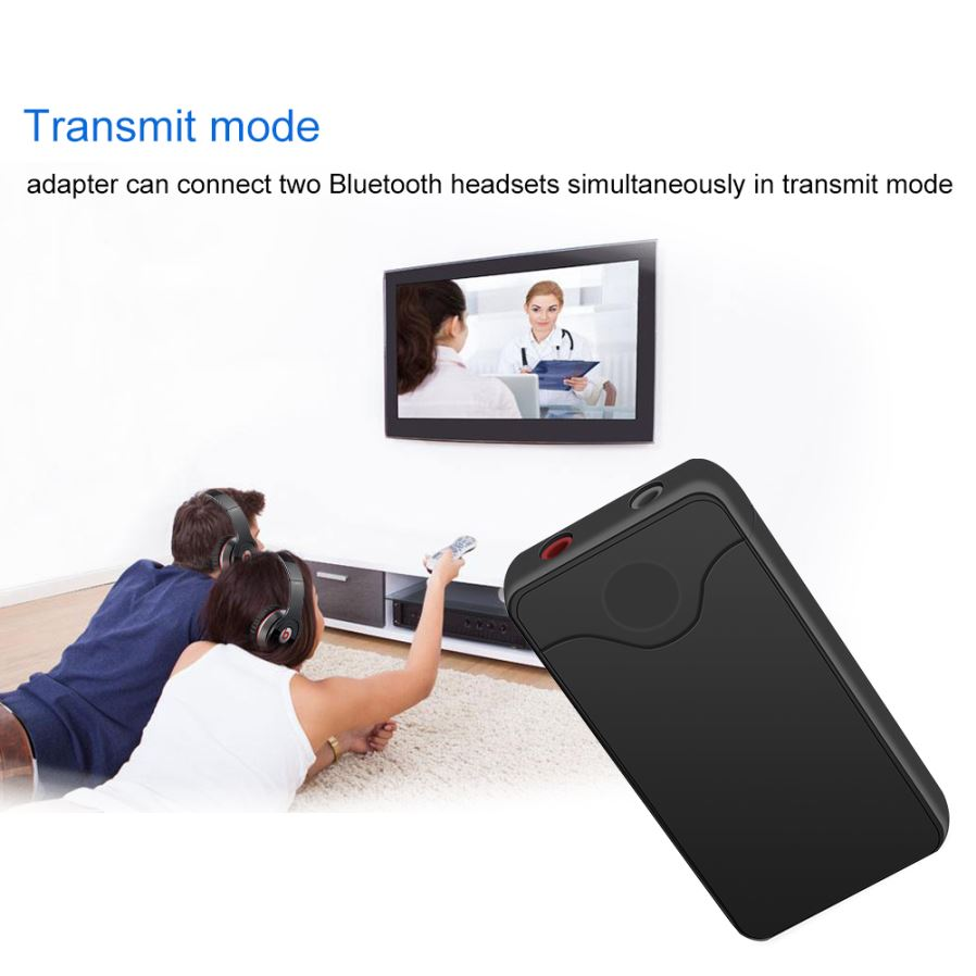 2-in-1 Bluetooth V4 0 Transmitter Receiver Wireless Adapter With 3 5mm  Audio Jack - Black