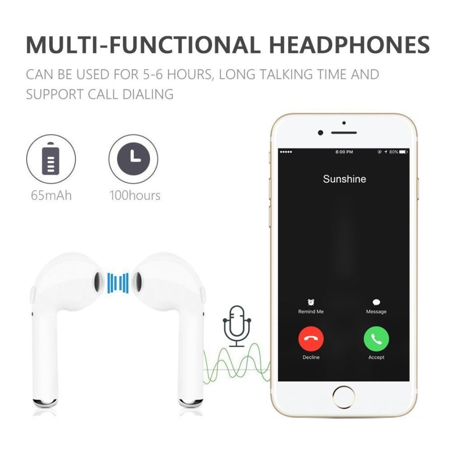 Headphone bluetooth iphone 8 - iphone 6s headphone set