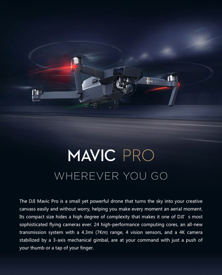 Dji Mavic Pro Rc Quadcopter With 3 Axis Gimbal 4k Camera Black Kingma External Microphone For Osmo Note The Manual Is Chinese If You Want English Please Download On Official Website Or Contact Us