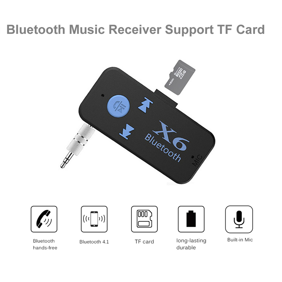 Universal 35mm Wireless Bluetooth A2dp Aux Audio Music Receiver Usb When You Press The Multi Function Button To End Call And Will Resume Playback Automatically Redial Last