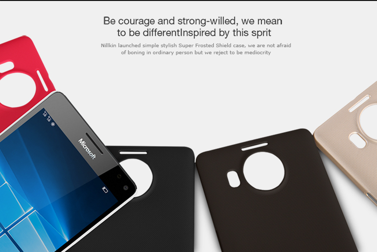 NILLKIN Protective Plastic Back Case w/ Screen Protector for Microsoft Lumia 950 XL - Black - Free Shipping - DealExtreme