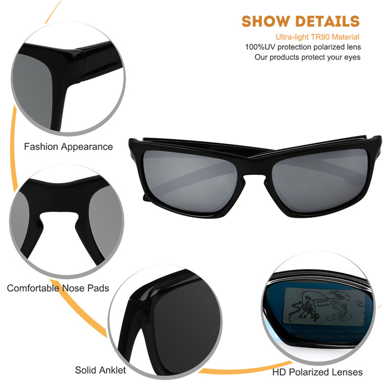MOBIKE 9269 TR90 Frame Polarized Sunglasses - Quicksilver ...