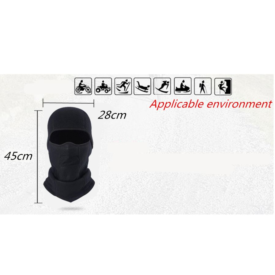 Outdoor Unisex Breathable Sports Headgear Head Hood Cover - Black ... f9f7526a1c88