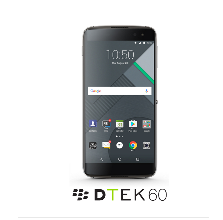 BlackBerry DTEK60 BBA100-2 Android Phone w/ 4GB RAM, 32GB ROM - Black