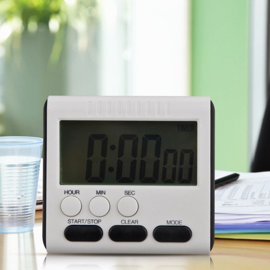 Magnetic Large LCD Digital Kitchen Timer With Loud Alarm