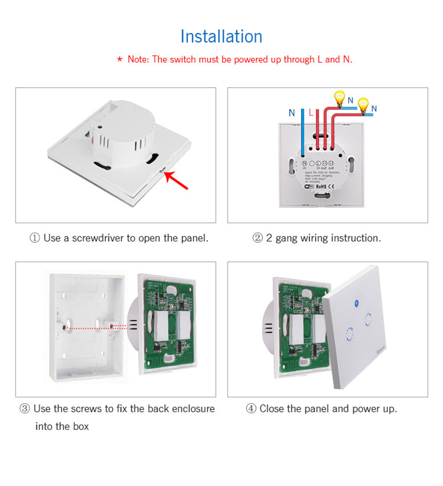 Sonoff T1 Eu Smart Wi Fi Wall Touch Light Switch Wifi 433 Wiring A 2 Gang Box Explanation If The Device Name Of Your Is My 1 Then You Can Control With Alexa