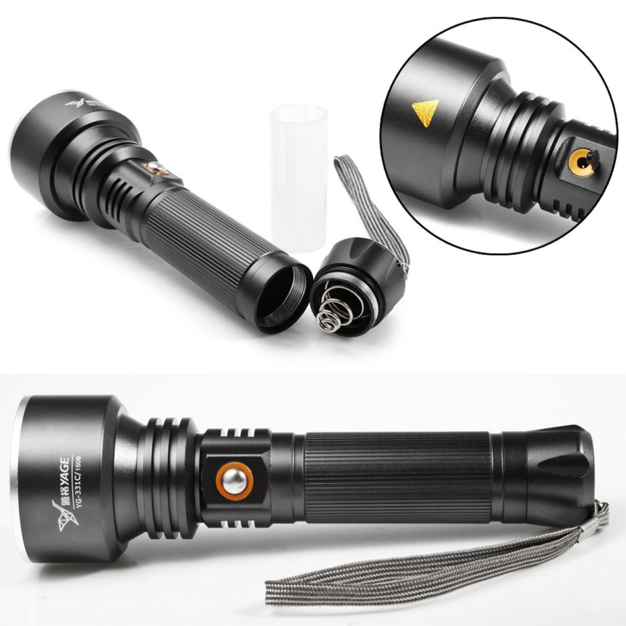 Outdoor Flood Light Burns Out Quickly: YAGE YG-331C 3-Mode Rechargeable Waterproof LED Flashlight