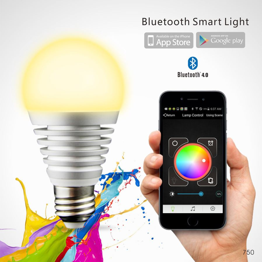 Youoklight E26 E27 10 Led Wireless Bluetooth Control