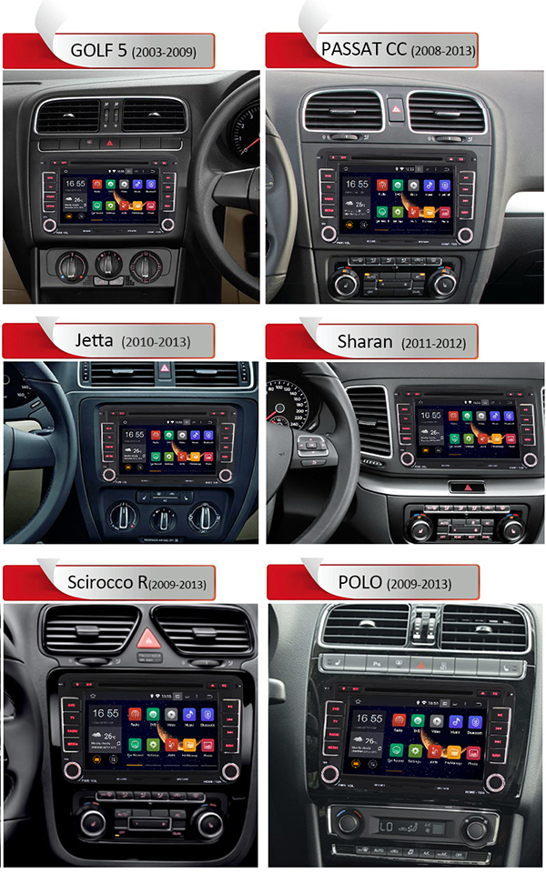 Android 4 4 4 Car Dvd Fm Am Radio For Volkswagen Black