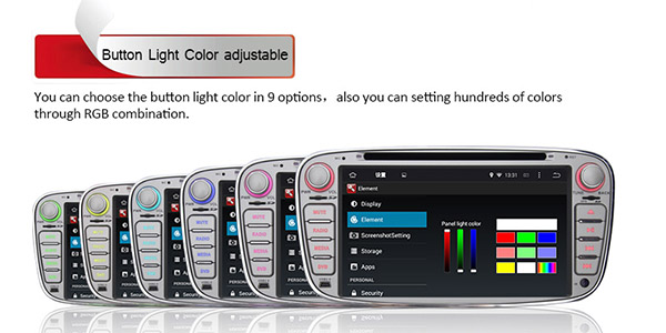 Android 4.4 Car DVD Radio System GPS BT AUX SWC WiFi for Ford ...