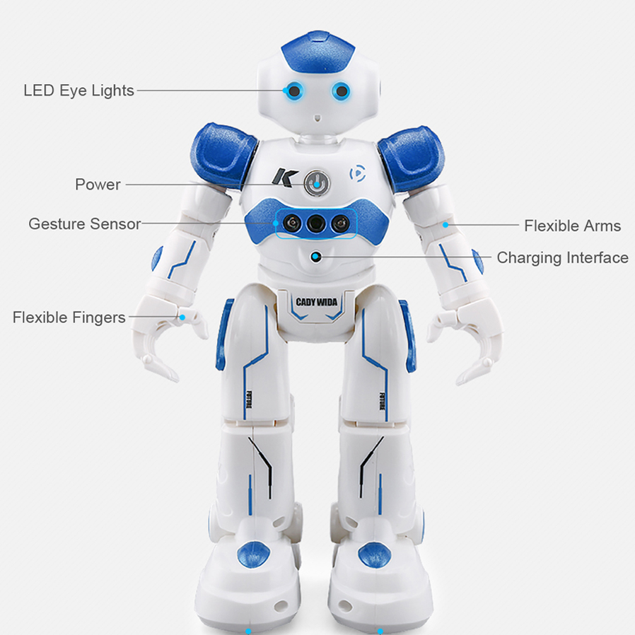 US Seller Cady-Wida Gesture Sensor Control Robot Blue battery Charger included