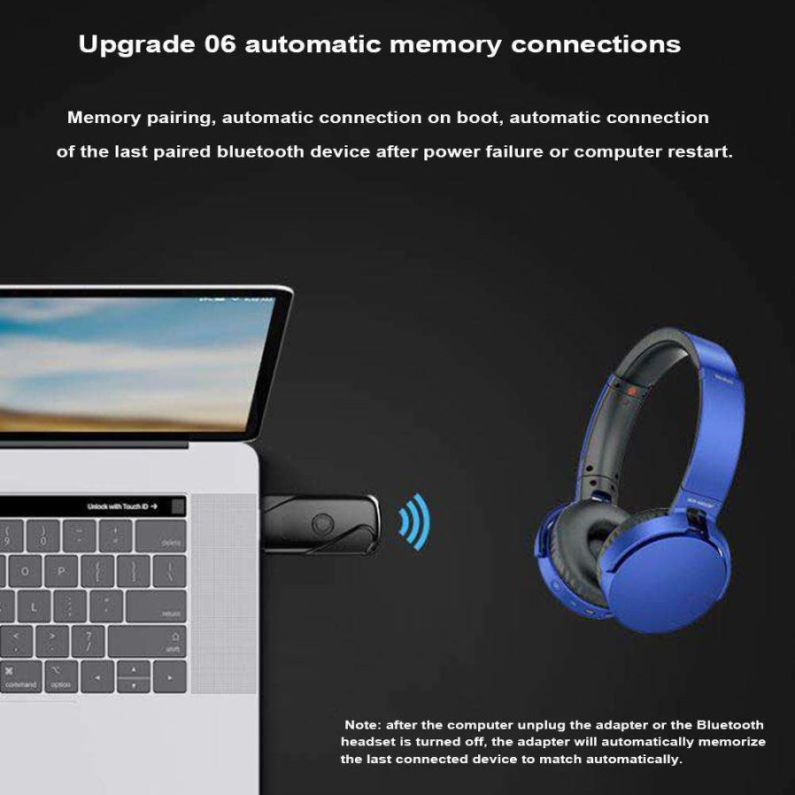 Wireless Usb Bluetooth Dongle Sound Receiver Adapter Transmitter For Laptop Black Free Shipping Dealextreme