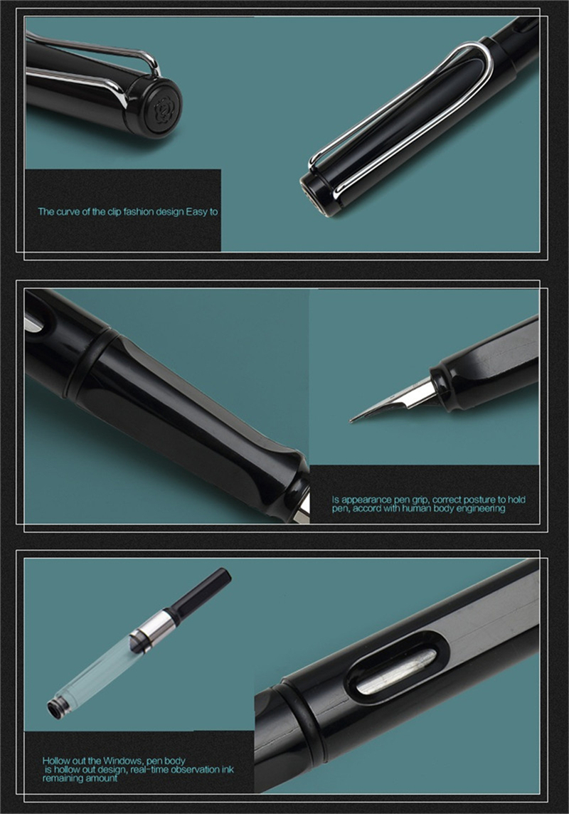 Different nibs calligraphy pen set for student black