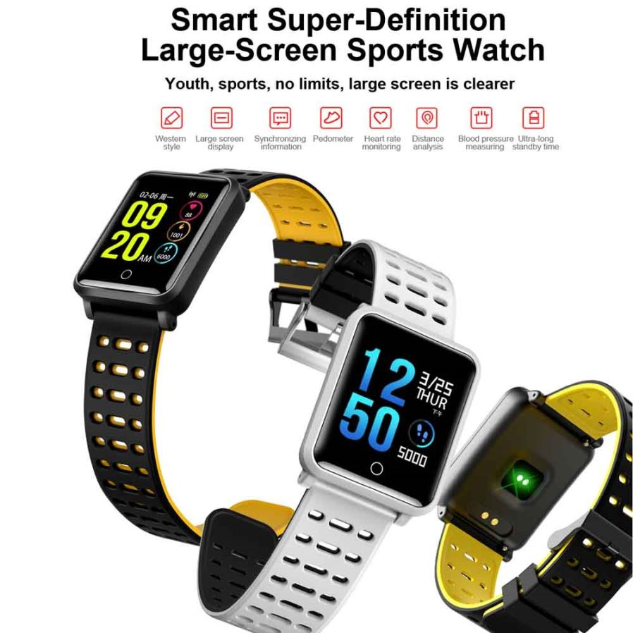 N88 Ip68 Waterproof 13quot Color Display Screen Bluetooth 42 Smart Xiaomi 042ampquot Mi Band 2 Wristband Replace Black Hd Large Heart Rate Monitoring In Real Time Dialing Pushing The Phone Synchronous Call History Address Book