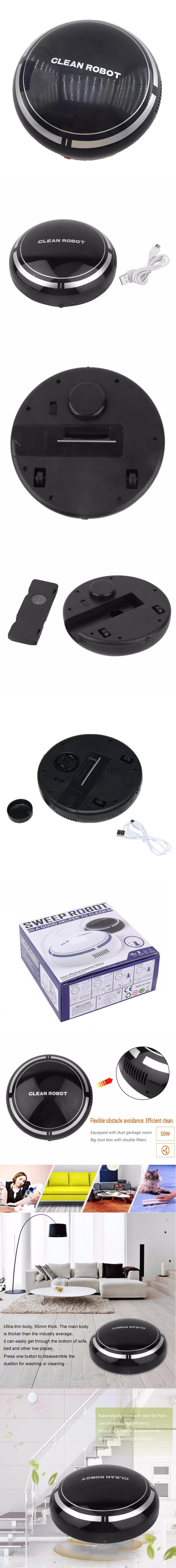 KICCY Automatic USB Rechargeable Smart Robot, Vacuum Floor Cleaner w ...