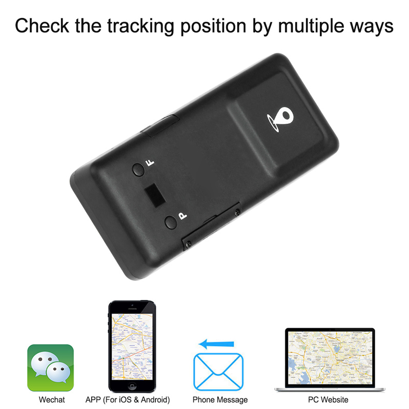 Eastor GPS Magnet Sticker LBS SMS Real Time Location Tracker - Black
