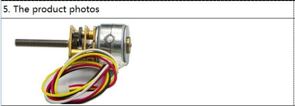 15by full metal 2 phase 4 wire micro gear motor w m3 for Threaded shaft stepper motor