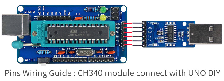 Open smart diy atmega p development board ch usb to