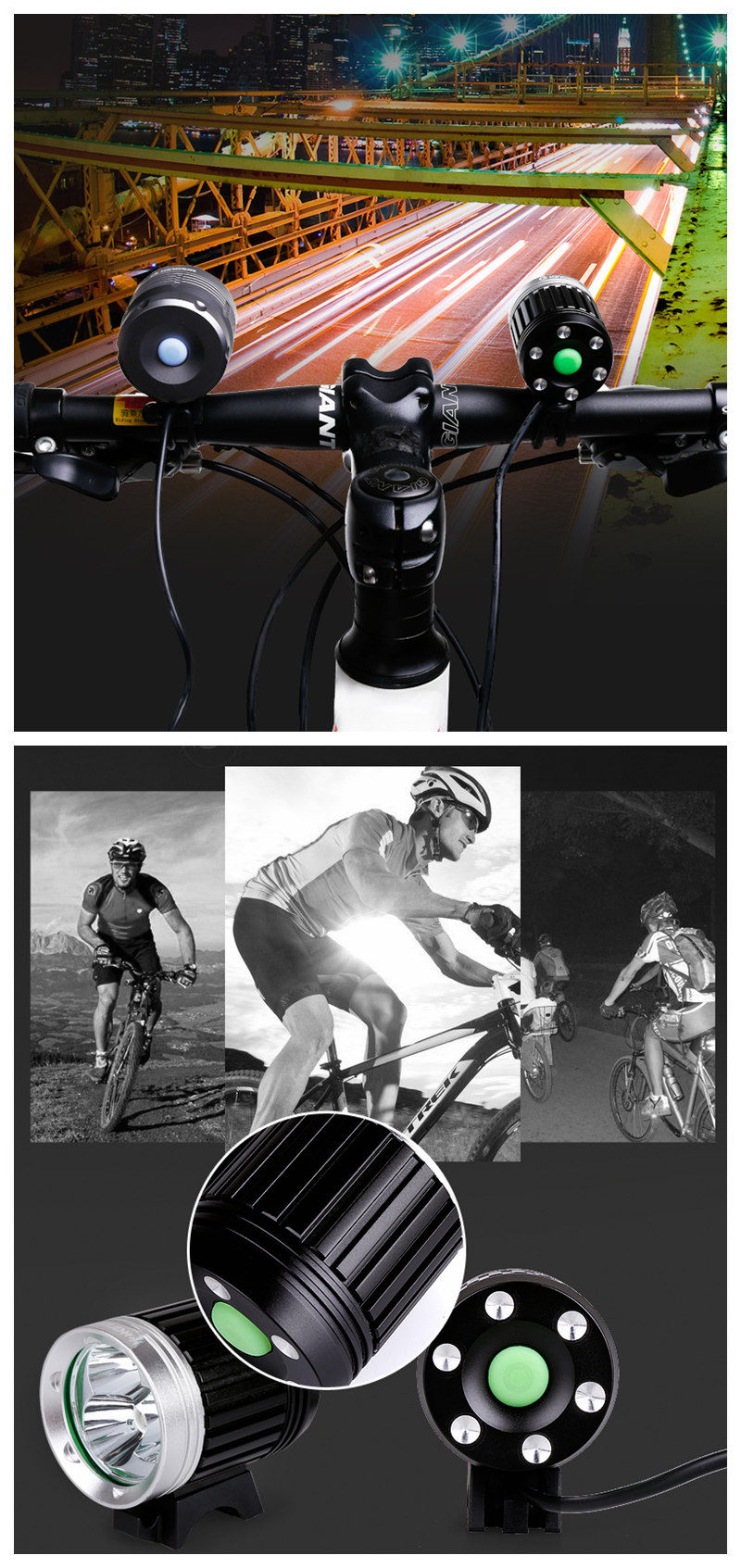 Waterproof USB Rechargeable Solar MTB Bicycle Light 600LM Night Riding Light X1
