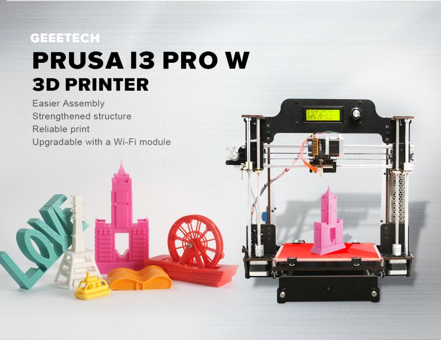 Geeetech High Quality Wood Geeetech Prusa I3 Pro W 3D Printer Kit