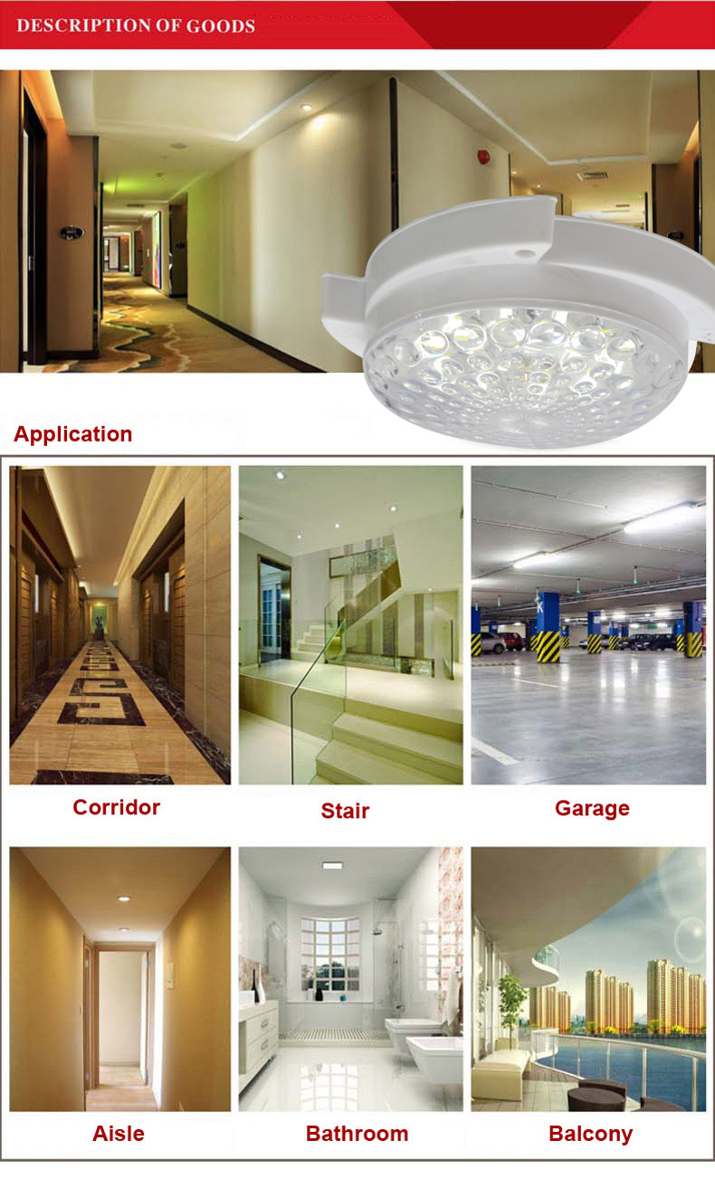 Jiawen 5w Cold White Led Voice Control Ceiling Lamp White Ac 220v