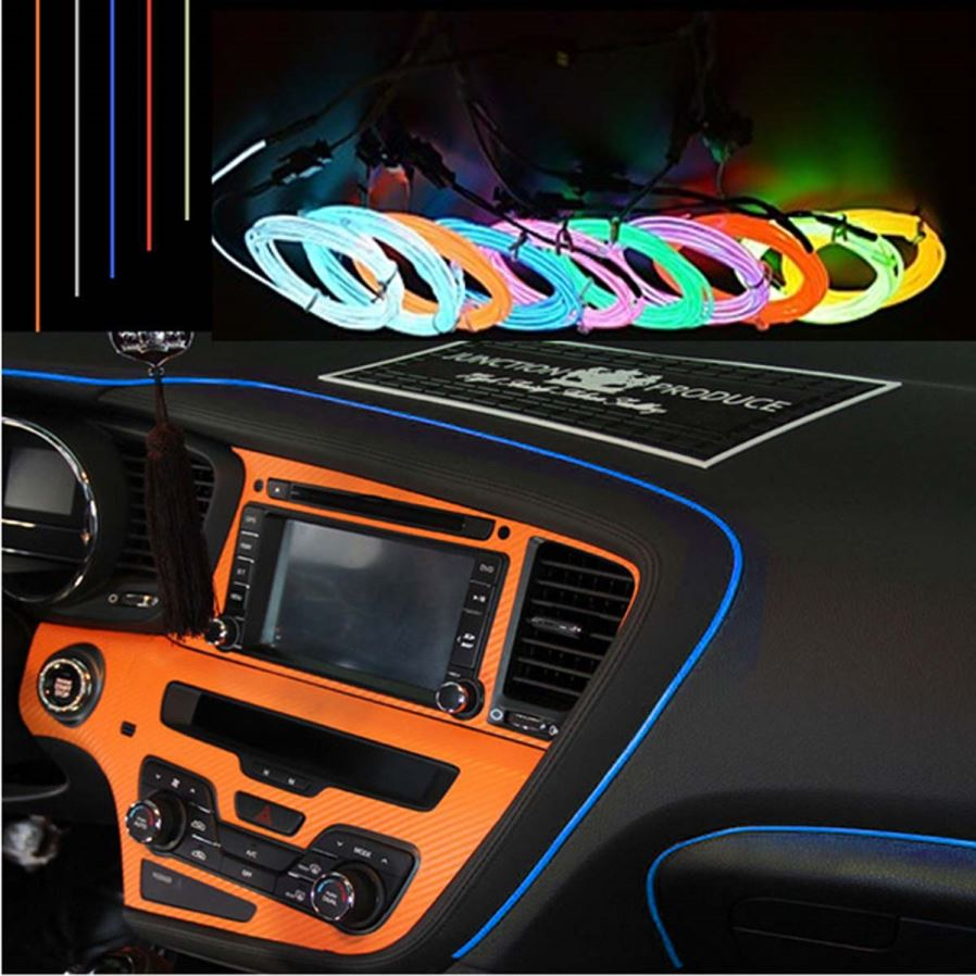 Car Light Decoration Jiawen 2m Flexible Car Decorative Neon Light W 23mm El Wire