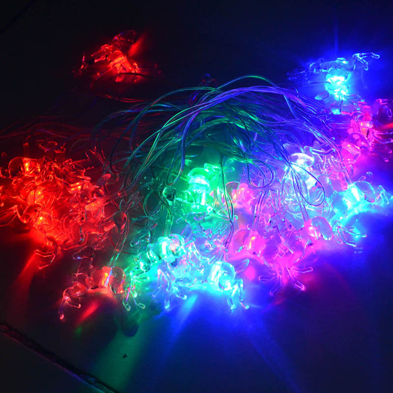 JIAWEN 5m RGB Christmas Deer Shape Decoration Fairy LED String Lights - Free Shipping - DealExtreme