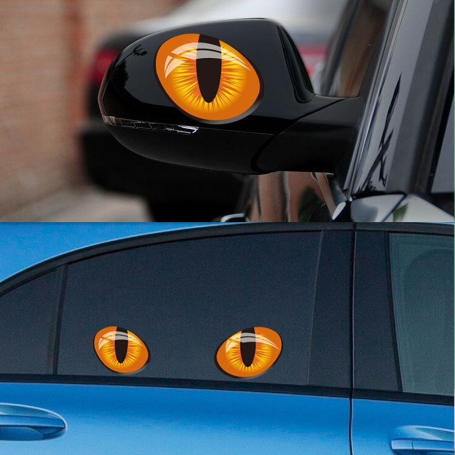 Rearview mirror decoration 3d decals simulation cat eyes car stickers free shipping dealextreme