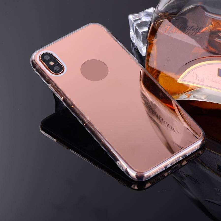 Mini smile protective tpu pc mirror back case for iphone x for Mirror iphone to pc
