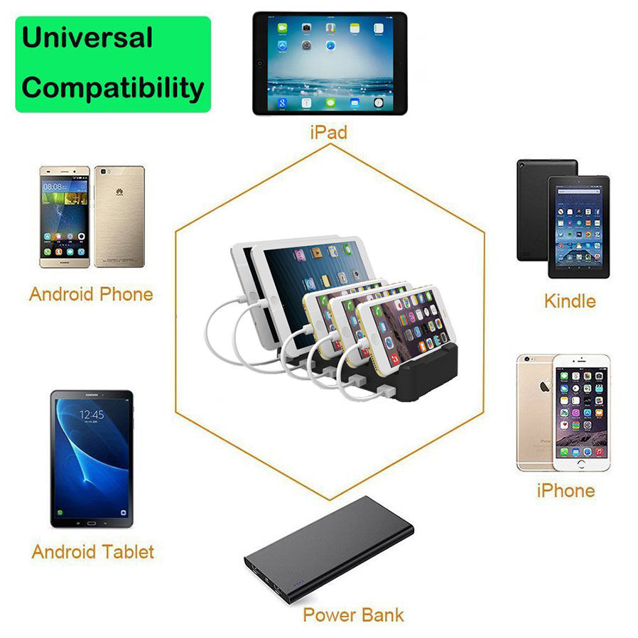 Cell Phone Charging Station With Usb Type C Port Smart 5
