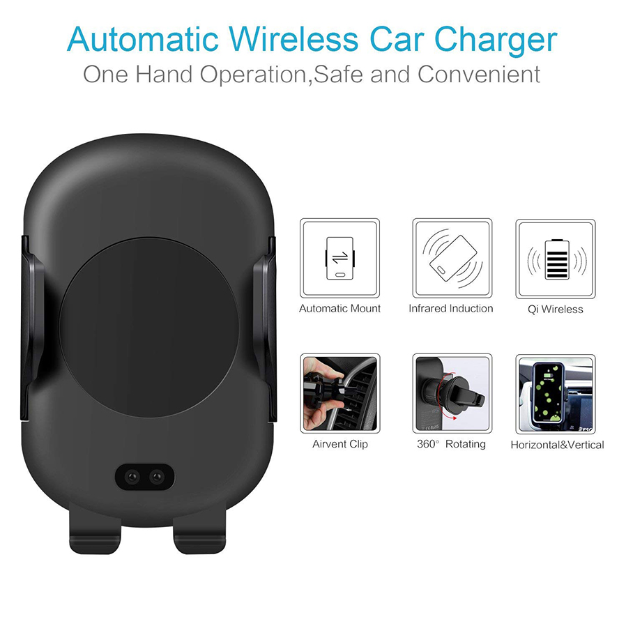 Measy C10 Wireless Car Charger Mount Qi Fast Stand Light Laser Led Gt Infrared Ir Headphone Receiver Circuit Your Phone Get Overheating Q My A Remove The Metal Plate Or Credit Card From Back It Has Over Charge Heat