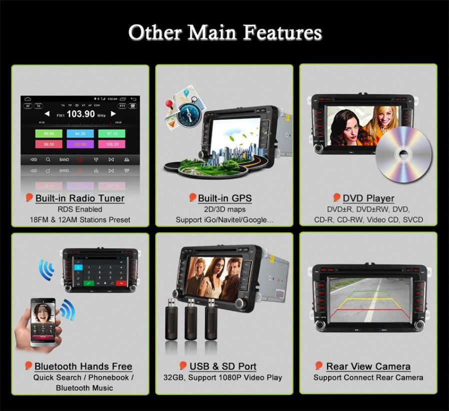Ownice C500 OL-7991F Quad-core Android 6 0 Car DVD Player for VW