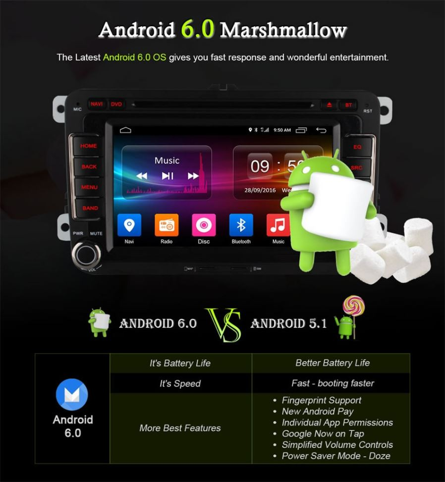 Ownice C500 Ol 7991f Quad Core Android 60 Car Dvd Player For Vw Displaying 16gt Images Body Parts Diagram Huomiota Tm Tuote Ei Sovi Polo Mk6 2015 Lle Passat B8 Tai Magotan 2017 Sinun On Valittava Toinen Ulkoinen Canbus