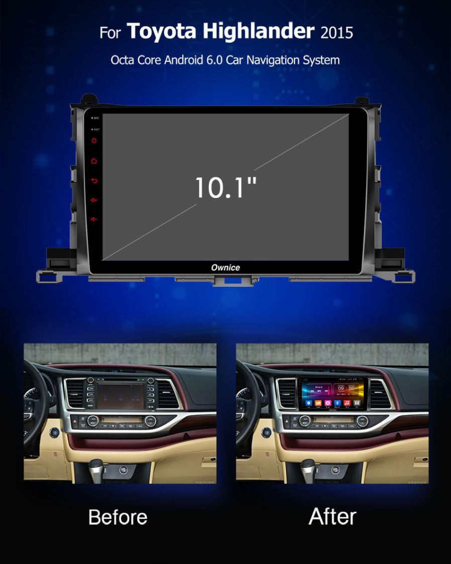 Ownice Octa Core 9 Android 60 Car Dvd Player Gps For Highlander