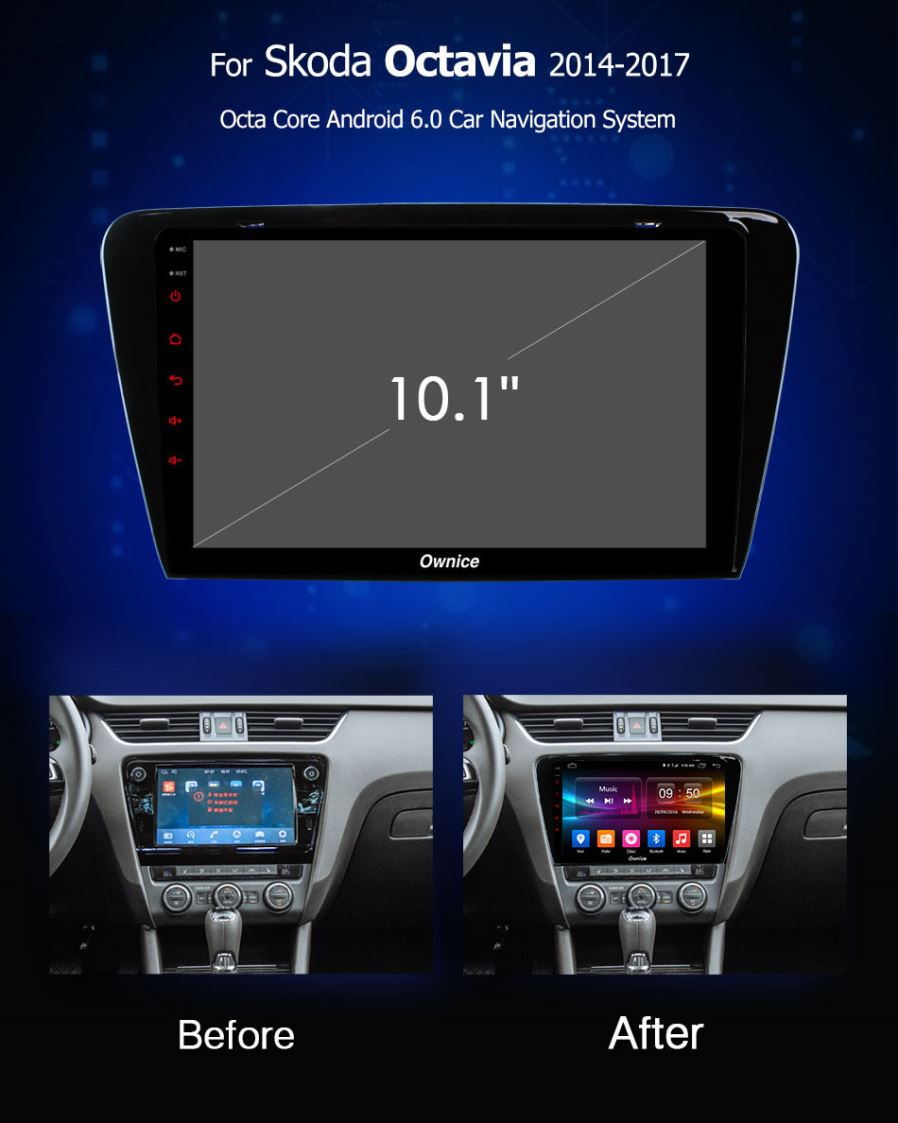 Ownice Octa Core 101 Android 60 Car Dvd Player For Skoda Octavia Fuse Box Cigarette Lighter Function Included Fm Am Radio Rds Gps Bluetooth Multimediausb Aux In Screen Mirroring Built Wifi Multi Supported 4g Sim Card Dab