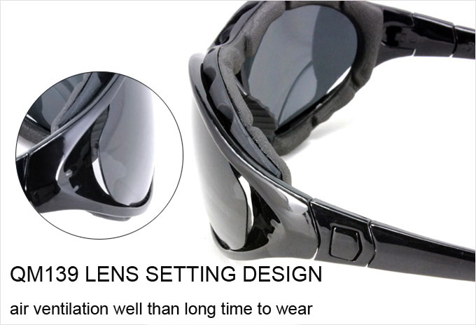 53aa857708 Panlees QM139 Anti-Wind Polarized Motorcycle Sunglasses Goggles ...