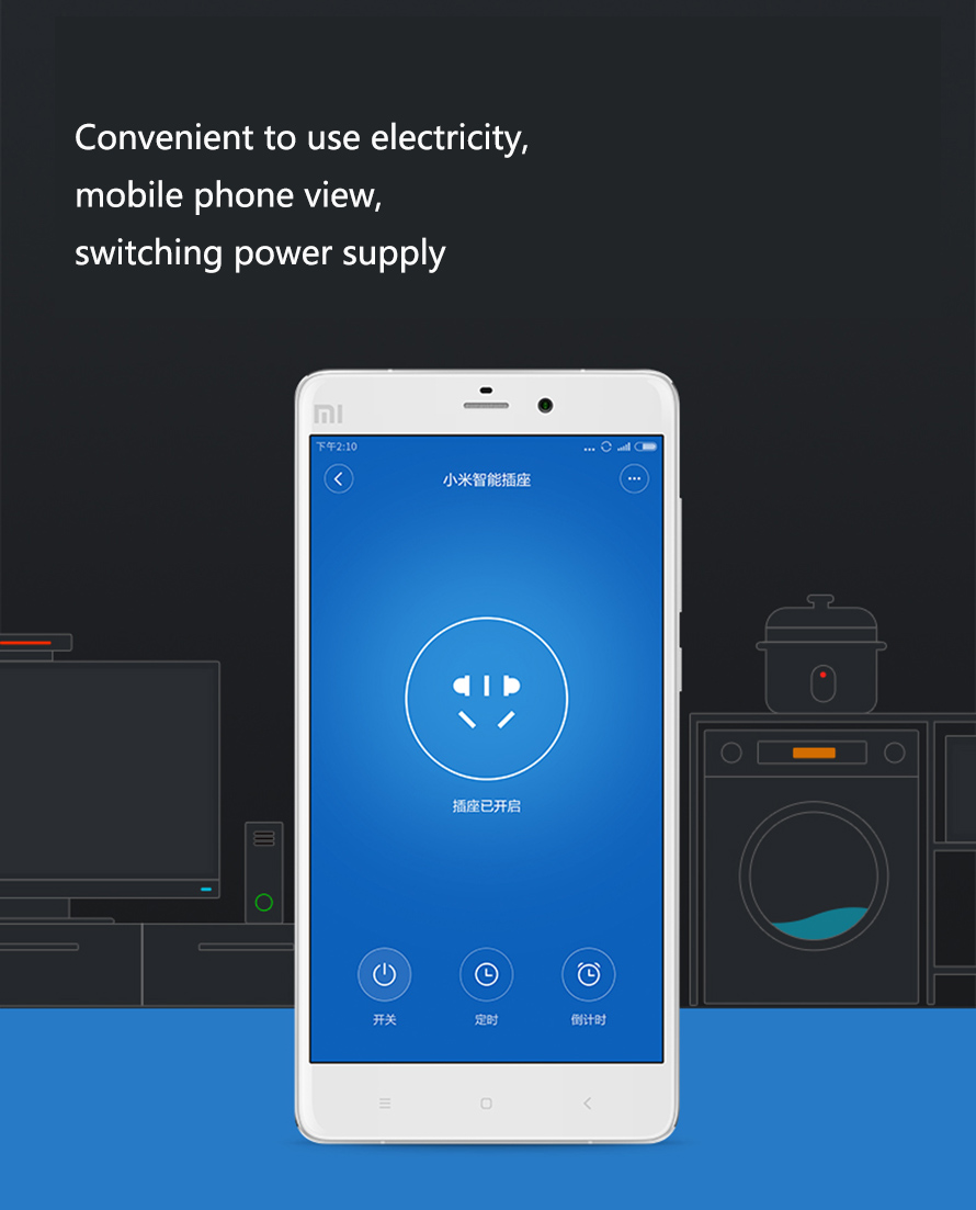 Xiaomi Home Wi Fi Wireless Basic Ver Smart Power Socket Plug Mi Strip Adapter With Remote Control Functio White Free Shipping Dealextreme